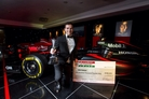 Comma's sponsored driver wins Britain's top motorsport award